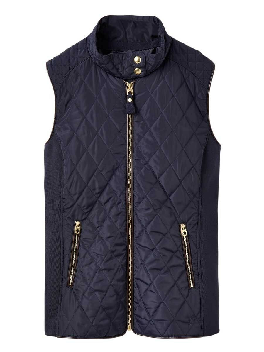 Joules Brookdale Quilted Gilet - UK Sizes 8 - 18 - Marine Navy