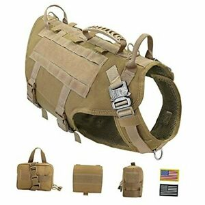 Tactical Dog Harness for Hiking Training, No Medium (Pack of 1) Coyote Brown