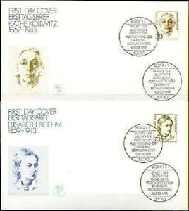 Frg-1991-Kaethe-Kollwitz-And-Elisabeth-Boehm-FDC-Der-No-1488-1489-20-05