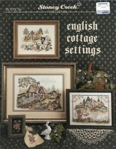 English-Cottage-Settings-for-Counted-Cross-Stitch-Book-96-1st-Printing-1992