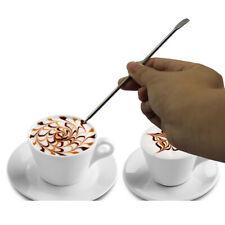 Fenteer Coffee Latte Foam Art Pen Spatula Stainless