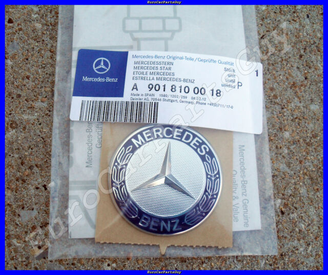 Genuine Mercedes Benz Sprinter Front Hood Emblem Badge w/ Adhesive Backing NEW