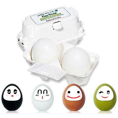 [HOLIKA HOLIKA]  Egg Soap(50g2ea)4 Kinds/Egg White/Green Tea/Ocher/charcoal