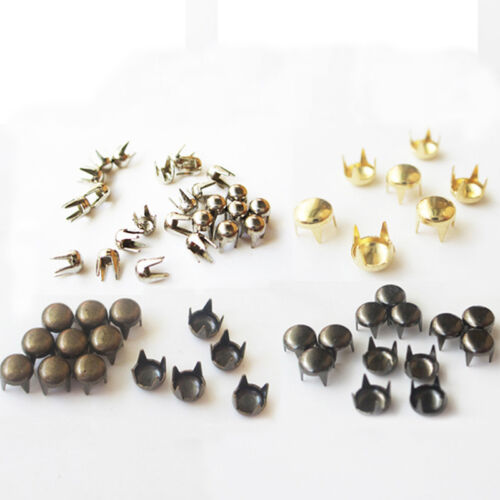 Brass Claw Rivets Belt Bags Garment Leather Craft DIY Punk Studs Round Spikes