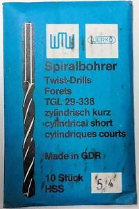 10 WERKÖ Spiralbohrer d= 5,6 Twist-Drills TLG 29-338 zylindrisch-kurz HSS