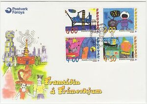 Faroe-Islands-2000-Children-039-s-Paintings-Stampin-the-Future-First-Day-Cover