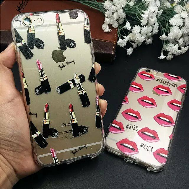New Fashion Cute Gel Crystal Clear Soft Case Cover for iPhone 5S/6/6S/6S Plus