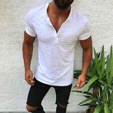 967bed15a5 item 4 US Mens Slim Fit V Neck Short Sleeve Muscle Tee T-shirt Plian Tops  Henley Shirts -US Mens Slim Fit V Neck Short Sleeve Muscle Tee T-shirt  Plian Tops ...