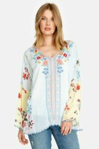 Johnny-Was-Vervaine-Embroidered-Blouse-Boho-Chic-C10819-NEW