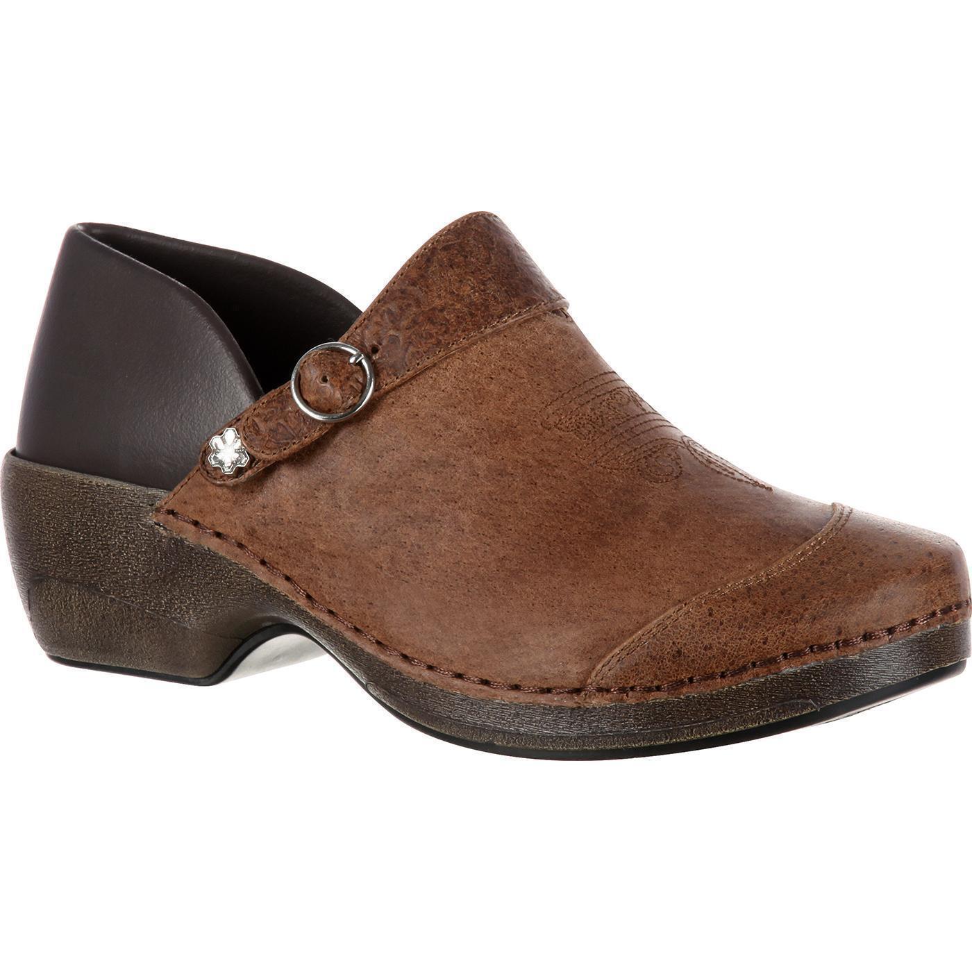 de60f4665 Rocky Mujeres 4 eursole 2 en 1 Marrón Zuecos occidental de cuero zapatos  talla 6.5 rkyh 045 nwzmyn2857-zapatos nuevos