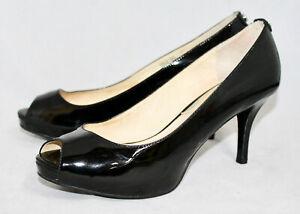 MICHAEL KORS Black Patent Leather Peep