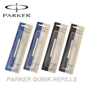 PARKER-QUINK-FLOW-BALL-PEN-POINT-REFILLS-REFILL-BLUE-BLACK-MEDIUM-FINE-CHOOSE