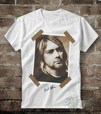 Glorioso T-shirt Uomo Donna Kurt Cobain Nirvana Gen0478