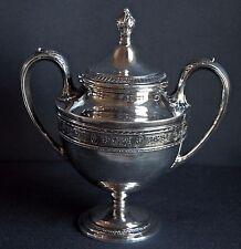 "Antique Sterling Silver Sugar Bowl International Wedgwood Pattern Lid C811 11 9"""
