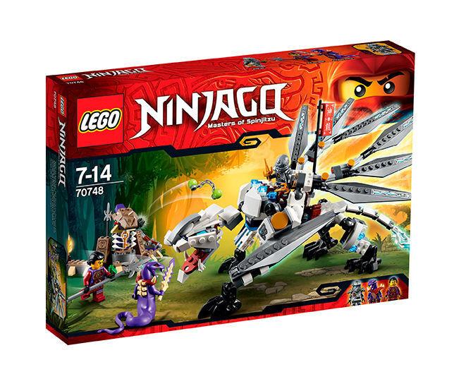 LEGO ® 70748 Ninjago TITANIO Drago Zane, Clouse e Chop 'Rai Nuovo OVP NEW