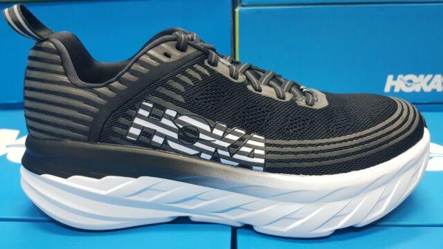 Mens Bondi 6 Black Running Shoes Size