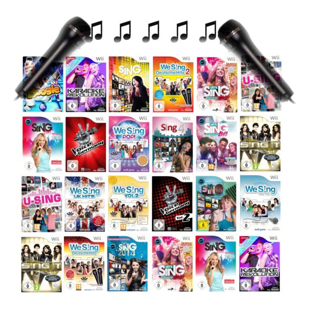 Nintendo Wii Karaoke We Sing Hits Fête Jeux Et Micro-Micro Sélection