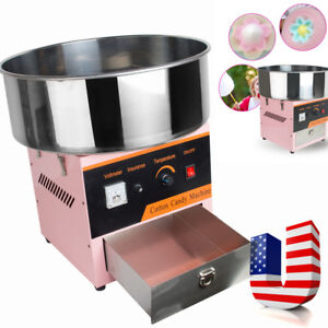 Electric Commercial Carnival Cotton Candy Machine Maker Fair Concession Pink One