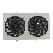 "Radiator Aluminum SHROUD & 2X12"" FAN FOR 1967-72 68 69 CHEVY C/K C10/C20/K10/K20"