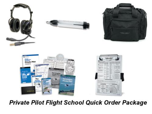 Kneeboard Private Student Pilot Package Fuel Tester Kit Headset FlightBag