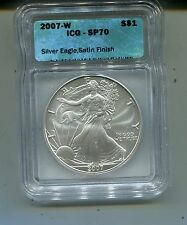 2007 W Silver Eagle-Satin Finish-ICG SP 70 Certified