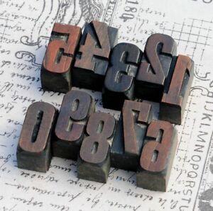0-9-Zahlen-27mm-Holzlettern-Lettern-Holzzahlen-Zahl-Stempel-Vintage-Stempel-Deko