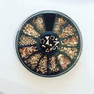 ROSE-GOLD-japanese-metallic-nail-studs-charms-wheel-3D-nail-art-design-x-600-pcs