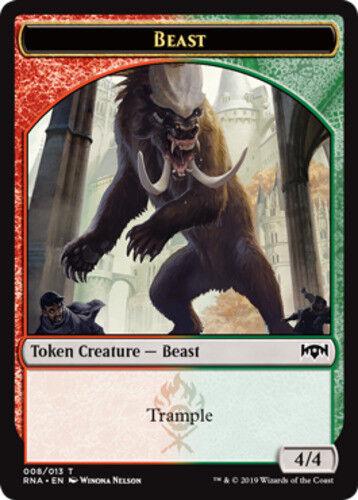 10x Beast Token NM-Mint English Ravnica Allegiance MTG Magic