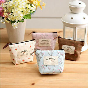 Cute-Women-039-s-Small-Canvas-Purse-Zip-Wallet-Case-Bag-Handbag-Coin-Key-Holder