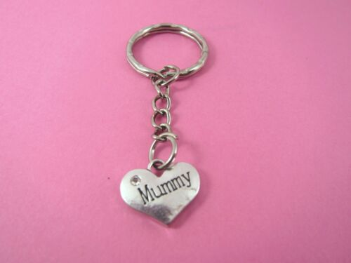 Mummy Rhinestone Silver Heart HandBag Charm Keyring New in Gift Bag