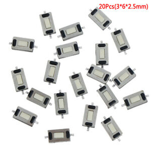 20Pcs-Micro-tactile-switch-touch-3-6-2-5mm-SMD-for-MP3-MP4-tablet-PC-butto-Kh