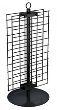Counter Spinner Display 2 Sided 21 X 12 Wire Grid Panel Black