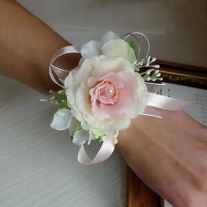 Hochzeit Armband Blume Rose Schleife Bandchen Blatter Blumenmadchen