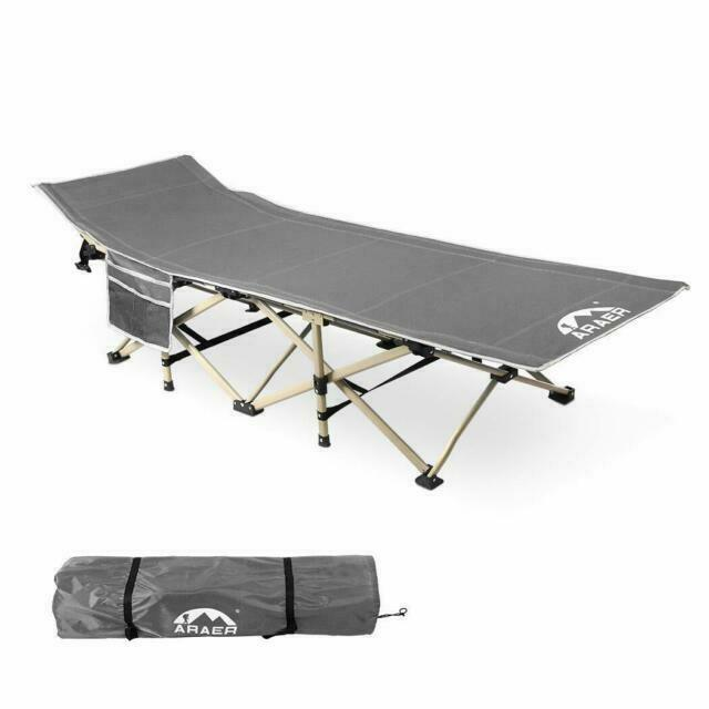 Folding Camping Cot /& Bed Heavy-Duty for Adults Kids w// Carrying Bag 300LBS Grey