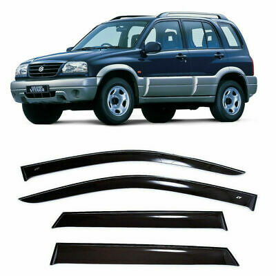 1999-2004 Chevrolet Tracker with 4-Doors 4-Piece Set for 1999-2005 Suzuki Vitara /& Grand Vitara Auto Ventshade 94321 Original Ventvisor Side Window Deflector Dark Smoke