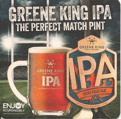 Ipswich Town Blue FREEPOST Ale Suffolk Pub 2 /'2016/' GREENE KING IPA BEER MATS