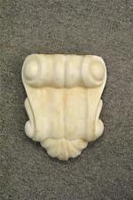Antique Cream Carved Marble Architectual Pediment