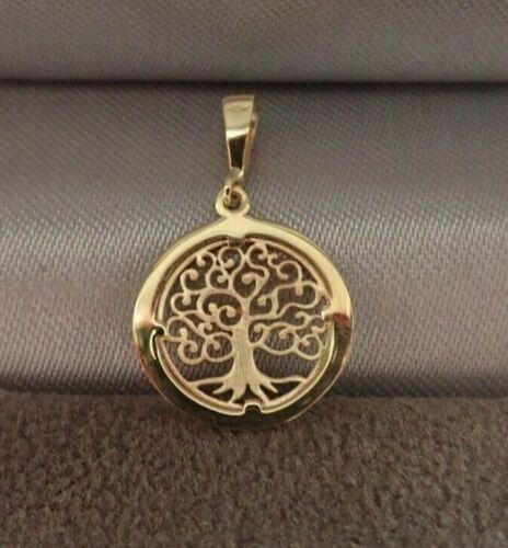 9ct oro Albero della Vita Filigrana Design Ciondolo//Charm-Small-Boxed