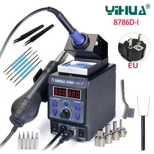 2 In 1 YIHUA 8786D I BGA Rework Station Soldering Iron Hot Air Gun Repair Tools