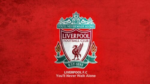 Football Quote Never Walk Alone Photo Poster Liverpool Badge Canvas Picture
