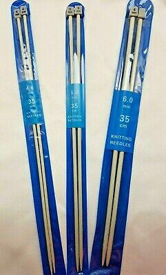 BAMBOO ferri da calza /& Knitting Pins Whitecroft Essentials 4mm x 30cm
