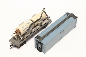 HO-POWER-SUPPLY-CAR-ROUNDHOUSE-REEFER-CAR-CAPACITOR-FOR-LOCOMOTIVE-BRASS-BOX