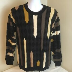 VTG-Tundra-Canada-Herren-Pullover-Baumwollmischung-COOGI-Bill-Cosby-Biggie-Style-Medium-FS