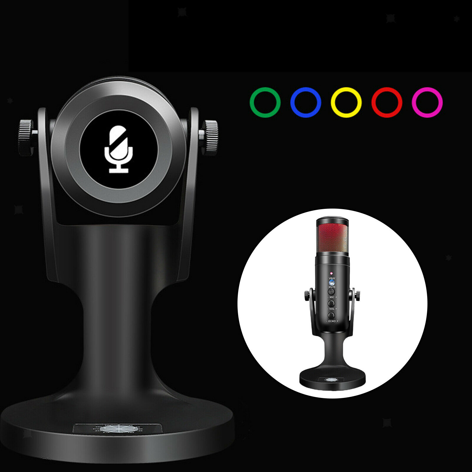 Type-C Cardioid Computer Microphone for PC Laptop Desktop, for Recording Gaming,