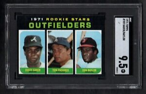 1971-TOPPS-709-ROOKIE-STARS-OUTFIELDERS-BAKER-BAYLOR-SGC-9-5-MINT-CENTERED
