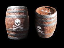 Barrel Keg Pirate Western Saloon skull crossbones Halloween Jack Sparrow prop