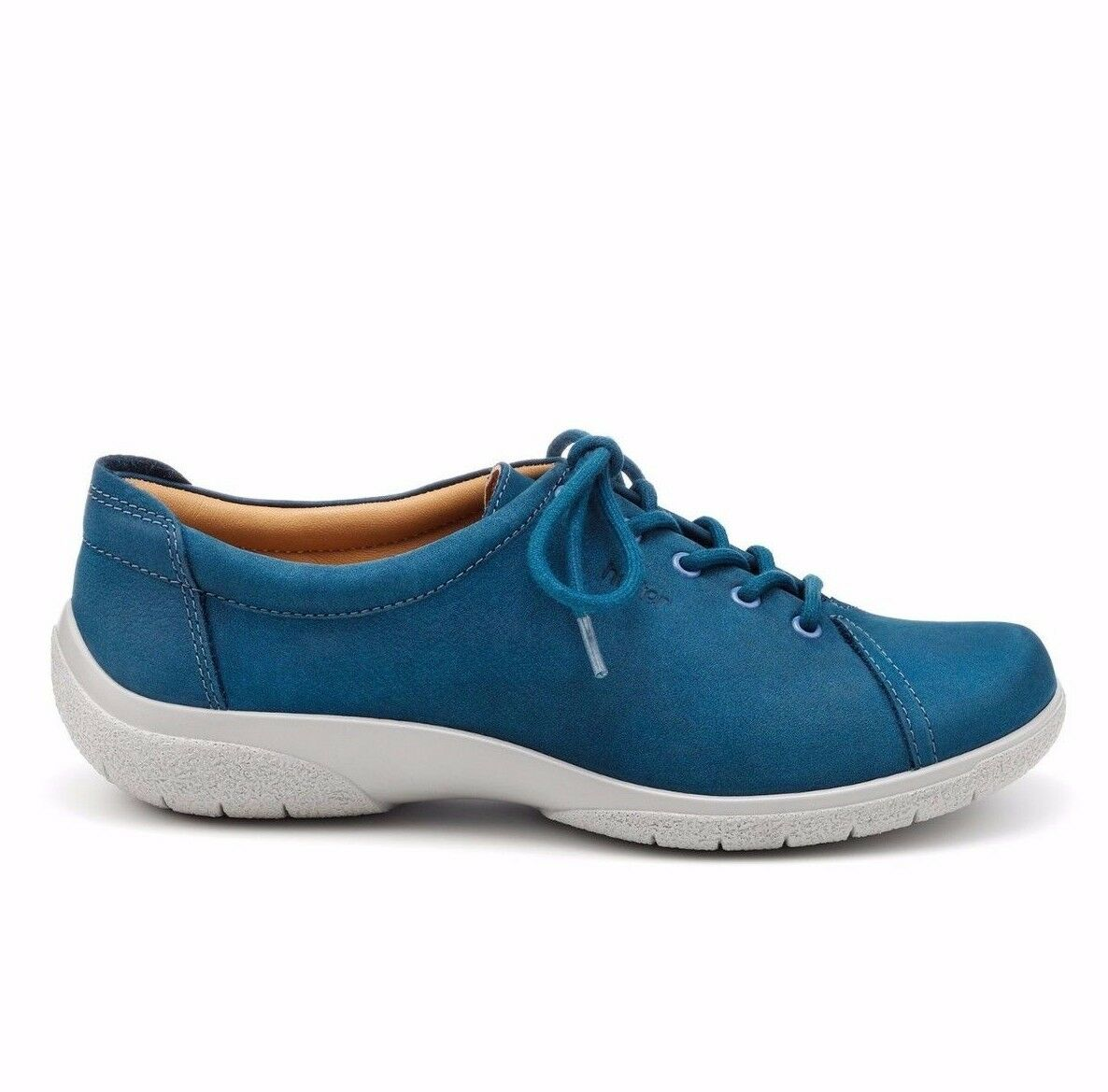 Hotter Dew Damenschuhe Nubuck UK 4.5 Cobalt Blau Nubuck Damenschuhe Leder Lace Up Trainer Style Pumps e40732