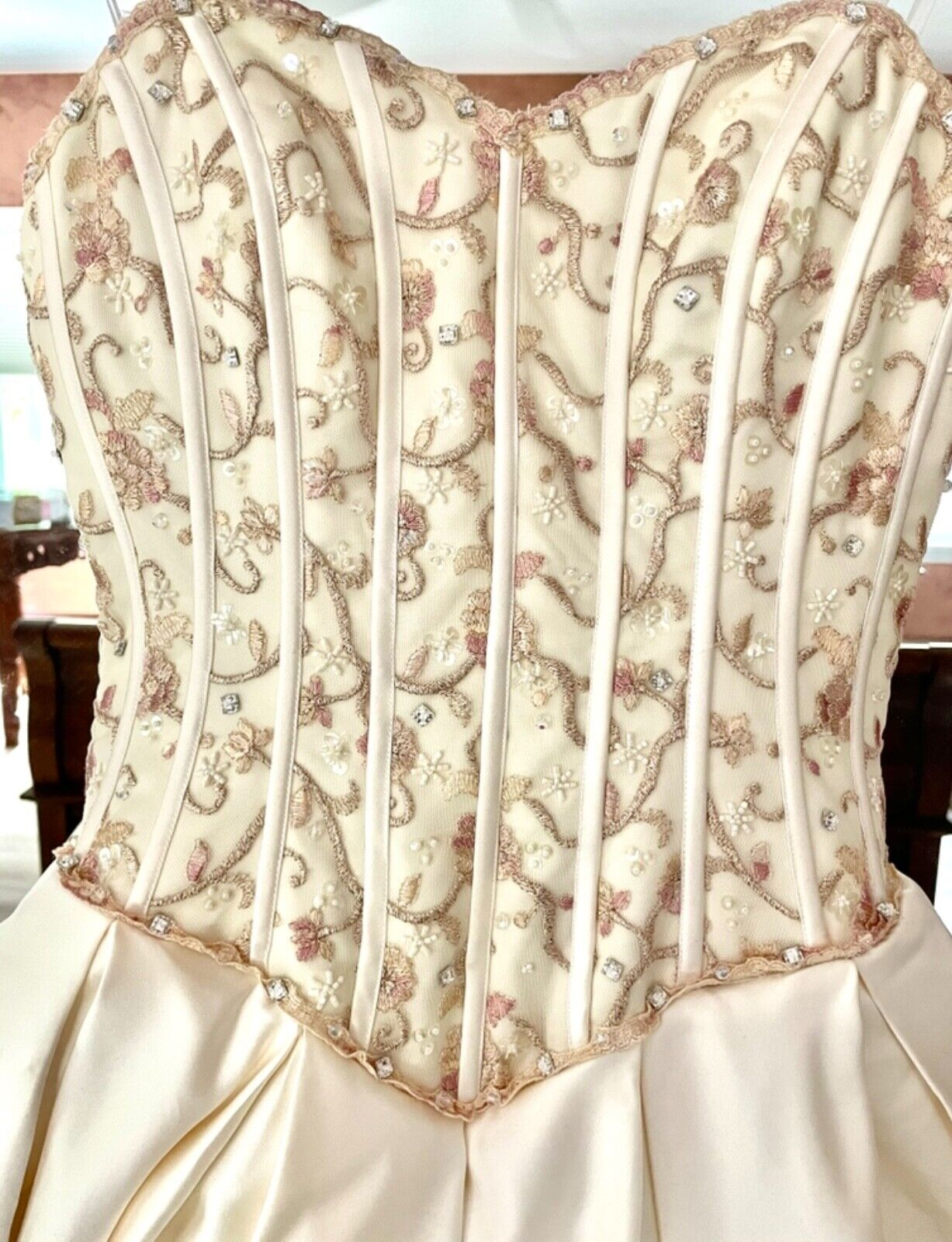 French bustle, corset, vintage, Victorian, Swarov… - image 10