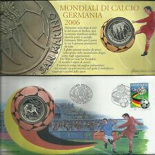 2006.San Marino.Mondiali calcio,Germania.Euro 10 Ag 925.Peso 22 gr.Diametr 34 mm
