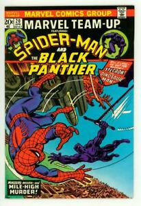 MARVEL-TEAM-UP-20-NM-9-2-SPIDER-MAN-BLACK-PANTHER-COMIC-1974
